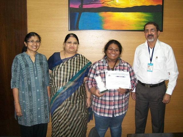 Mrinmayee Korgaonkar of SYBA  Div. 'C' won Third prize in 'Poster Making Competition