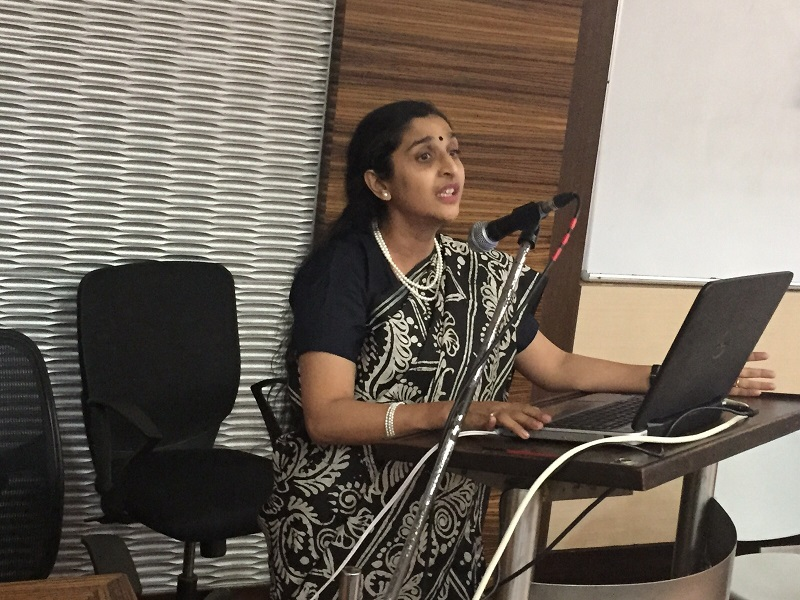Dr. Megha Bhatt delivering a talk
