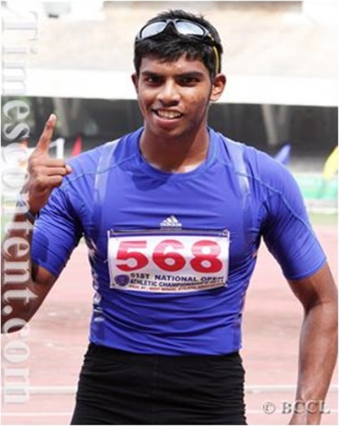 Siddhanth Thingalaya Represented india in Common wealth games and Asian games in Athletics
