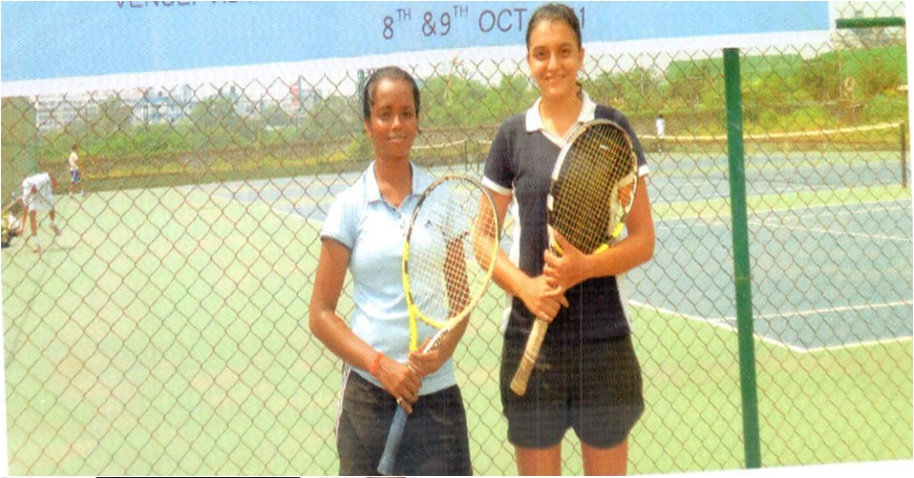 Ms. Supriya Mallaya and Nupur Kaul WINNER OF WEST ZONE AND All India Inter University Tennis Tournament