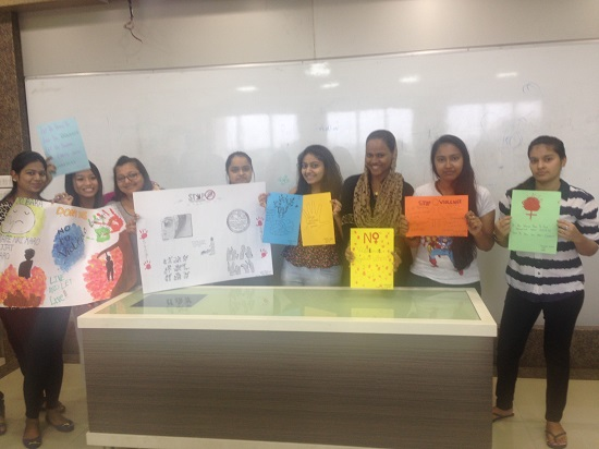 Poster making by TYBA students on 15-11-14 titled