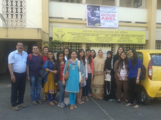 Visit to Kripa Foundation on 15-12-14 a de-addicti