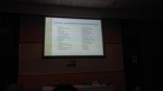 Mr. Partha Patil presenting various career opportu