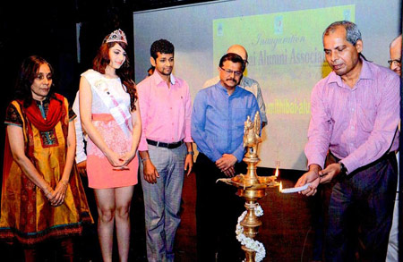 Prof. A. Birajdar lighting the lamp